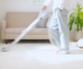 Man Vacuuming