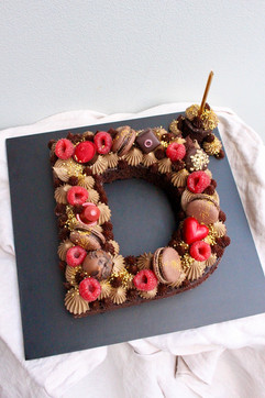 Chocolate Letter D Cake