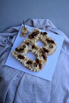 Letter B Cake - White Chocolate mud cake
