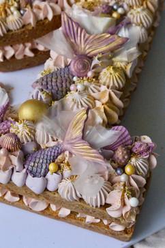Mermaid Number Cake