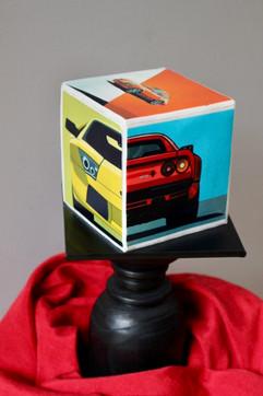 Car Cube Cake