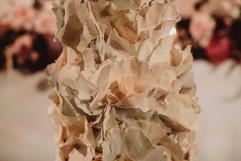 Ruffle Wedding Cake Details