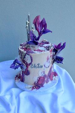Buttercream Cake with Edible Handmade Flowers