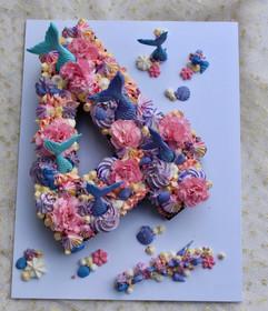 number mermaid cake