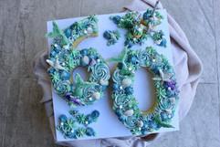 Number 60 Mermaid Cake