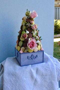 Macaron Tower with Fondant Vase