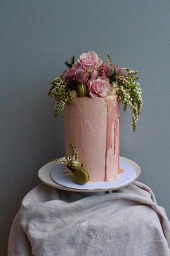 Dusty Pink Baptism Cake