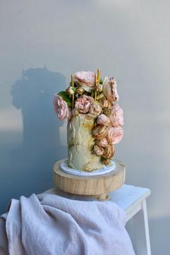 Floral Macaron Cake