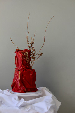 Red engagement cake