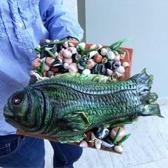 3D Fondant Fish Cake