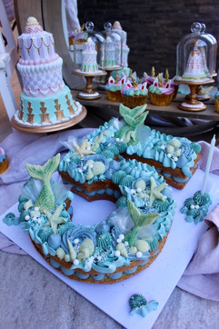 Number 5 Mermaid Birthday Cake