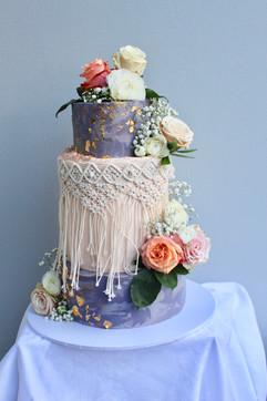 bohemian boho buttercream cake