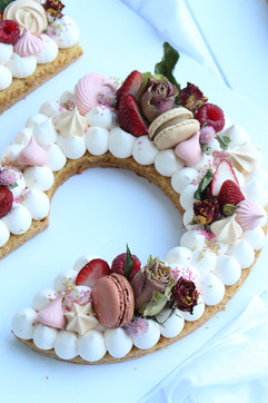 Close Up Number 5 Cake
