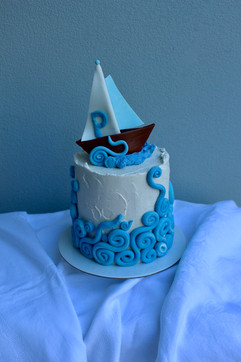 Mini Buttercream Cake with Waves
