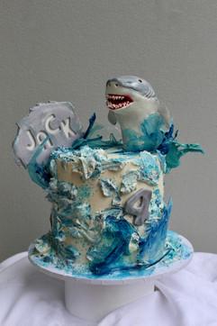 Shark Buttercream Cake