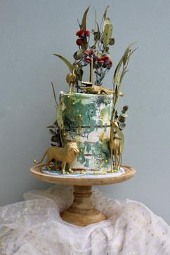 Rustic Semi-naked safari cake