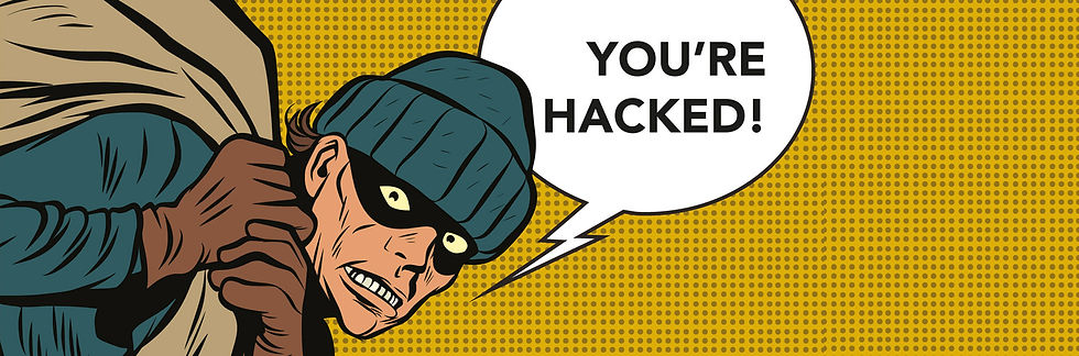 Hacker stealing information