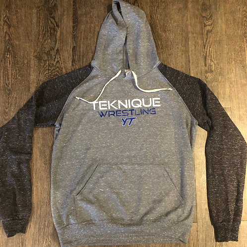 Teknique Wrestling Raglan Hooded Sweat Shirts - Adult Sizes Only