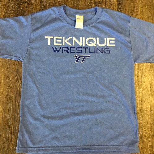Teknique Wrestling - Light Blue T-Shirt