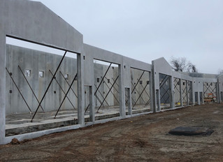 Walls are up on Building A and C!