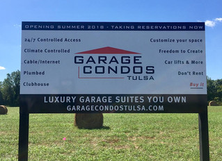 Garage Condos Tulsa - off to the races!