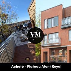 Condo 1 Ch, terrasse Vue sur Mont Royal