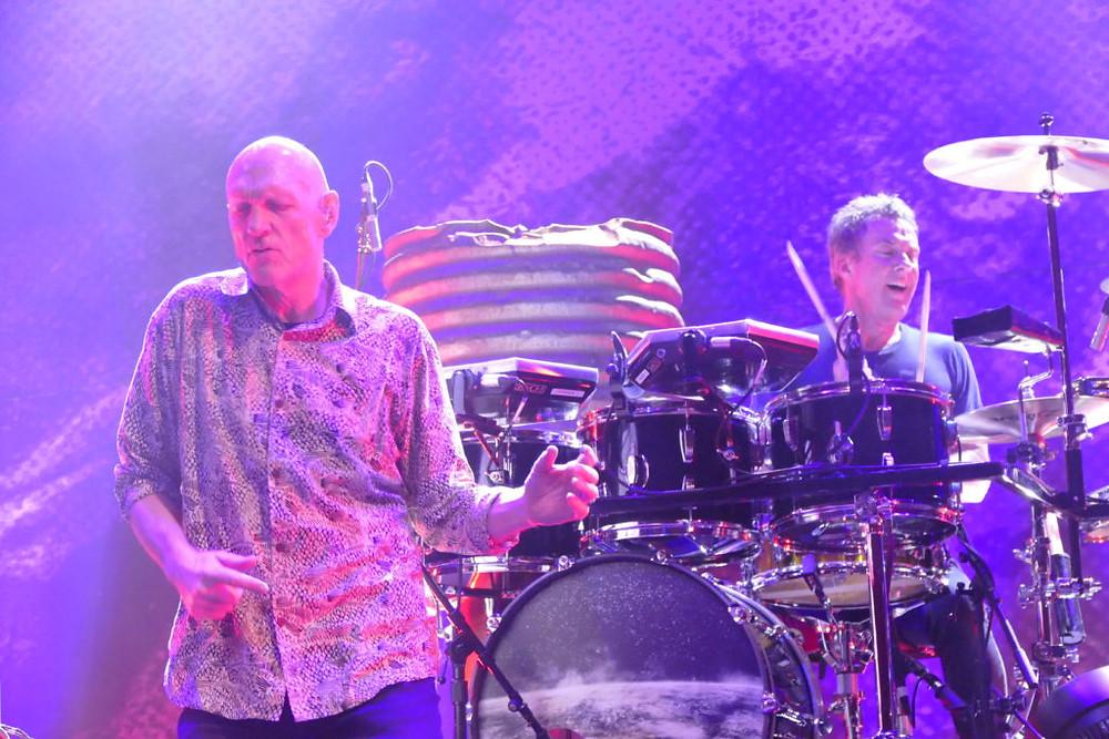 Lead singer Peter Garrett and drummer Rob Hirst