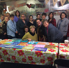 Word of the Year class. Inspiring women in Tacoma painting the night away in Artful Dreamers Studio.
