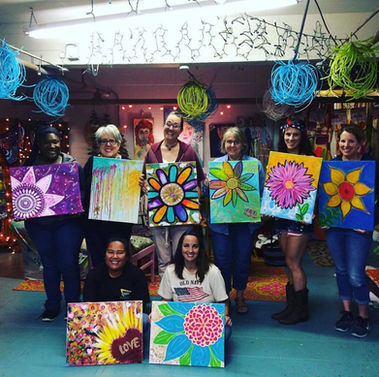 Sunflower Class with Fun Ladies