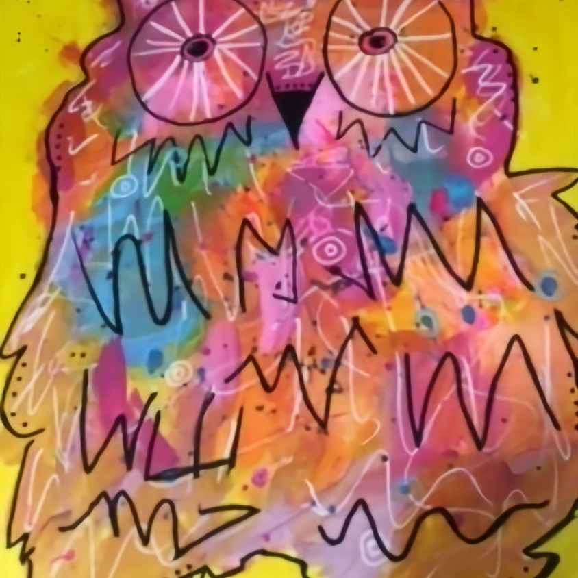 Let's Paint Owls for kids