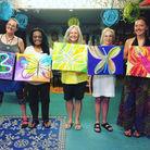Painting Butterflies at Artful Dreamers Studio.