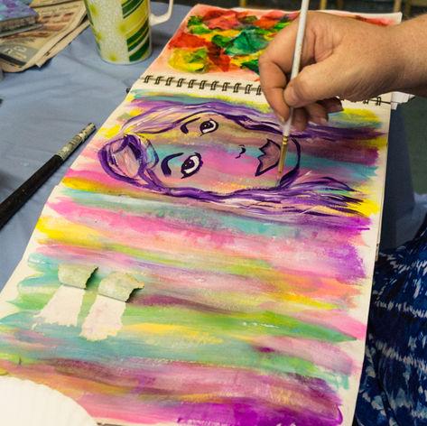 Making time for Art Journaling. Art Heals.