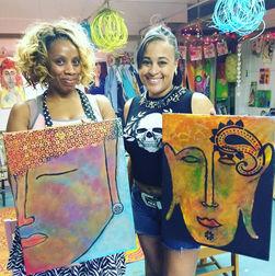 Buddha Art Class! Wonderful Women!