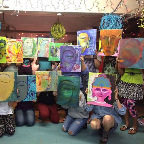 Painting Buddha | Such a wonderful and fun class.