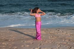 Pink on the beach