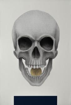 Cráneo y óbolo