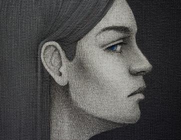 Los tres destinos - Décima (detalle del rostro)