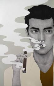 El mito del fuego (Hombre disfrutando un cigarro)
