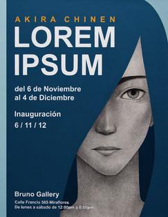 Lorem Ipsum - Afiche de la exposición