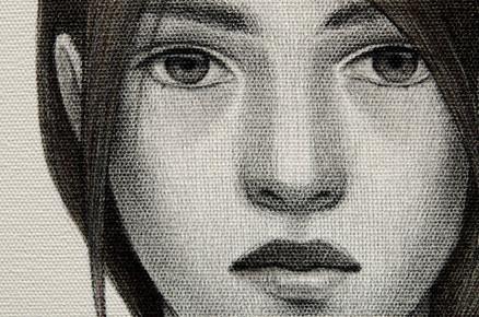 Los tres destinos - Nona (detalle del rostro)