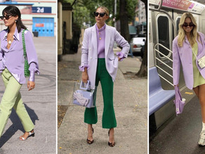 How Purple and Green Became The IT Colors of The Season