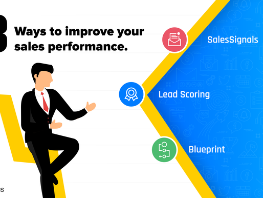 3 ways to improve your sales performance.