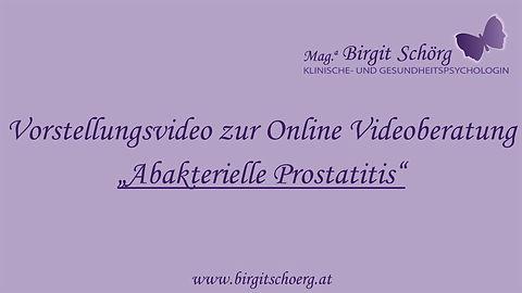 Vorstellungsvideo Abakterielle Prostatitis