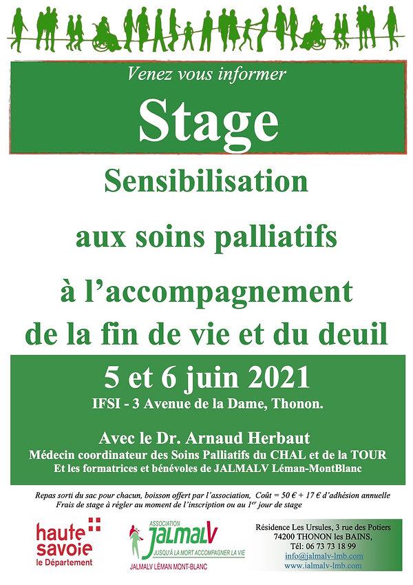 Affiche soins palliatifs - Thonon - 2021