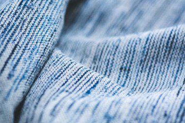 Blue knitwear fabric