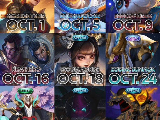 Mobile Legend's Upcoming Skins & Heroes for October 2020
