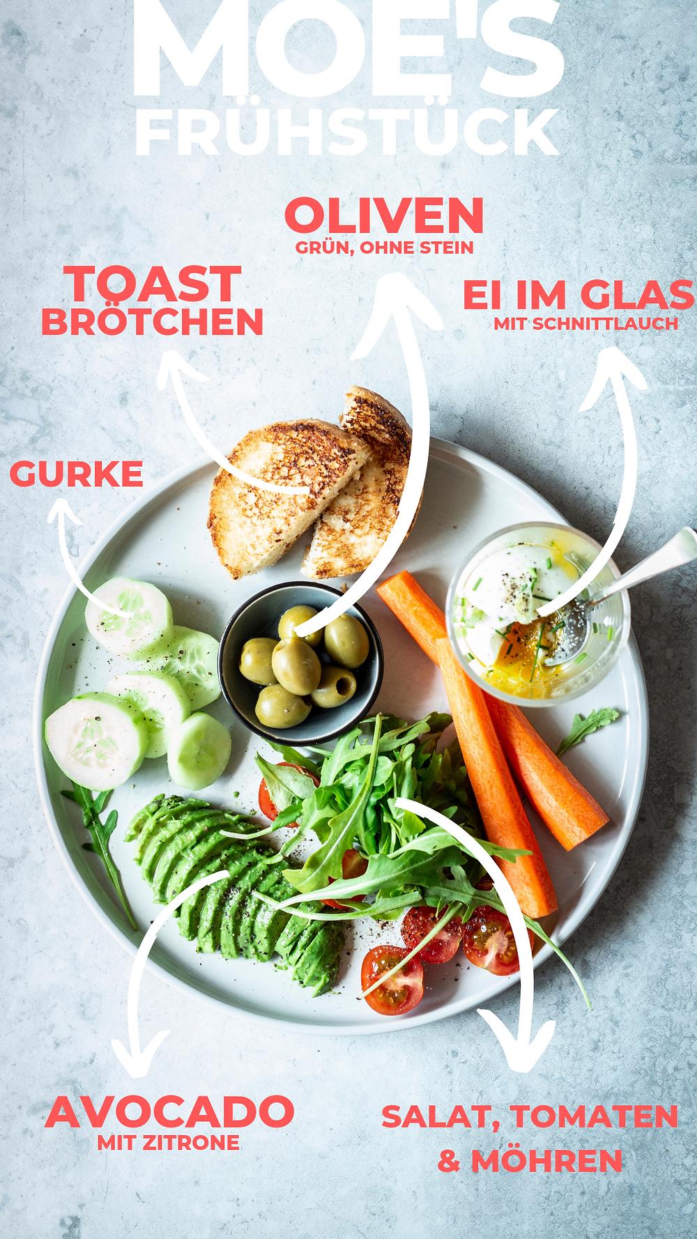 Schnelles gesundes Frühstück Rezept mit Avocado, Möhren, Oliven und Ei im Glas – so reichhaltig und lecker, da fängt der Tag gut an! Eine meiner liebsten Frühstücksideen! # frühstück #einfach #schnell #gesund #breakfast #frühstücksidee #rezept