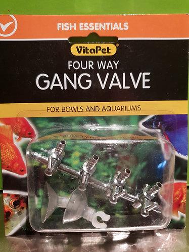 4 way gang valve
