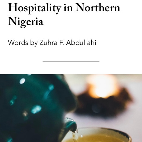 Tea and Snacks: Hospitality in Northern Nigeria