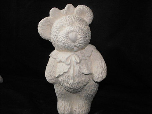 Girl bear with lace vest